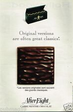 Publicité advertising 1992 Les Chocolats After Eight