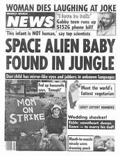 SPACE ALIEN BABY FOUND IN JUNGLE! -- Weekly World News August 30, 1988