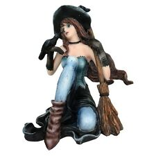 Heidi Witch with Raven & Broomstick Figurine By Nemesis Now