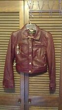 BABY PHAT Red/Burgundy Genuine Leather Jacket S