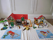 PLAYMOBIL COUNTRY LARGE FARM (6120) WITH SEPARATE PONY STABLES (6927) BUNDLE