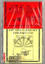 Copper State Models 1/48 GERMAN GAUGE & INSTRUMENT SET Photo Etch Set