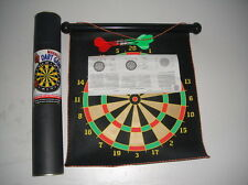 Large Magnetic Rollup Dart Board with 6 Darts Double Sided Fun safe for Kids!
