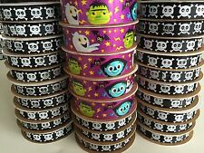 Lot 28 Rolls 84 yds Craft Ribbon Skulls Crossbones  Goblins Ghosts EEK!
