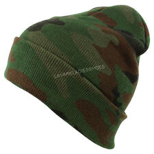 Camo Beanie Knit Skull Cap Camouflage Hunting Ski Cap Men Women Winter Beany Hat