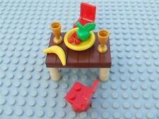 New Lego Minifig Friends House Table Chairs Food Store Fruit Plate Set