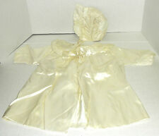 Vintage Christening or Baptism outfit bonnet & Gown silk