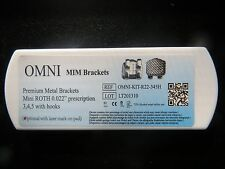 5 kits Dental Orthodontic Mini Roth .022 Premium Bracket Braces from USA