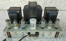Vintage AMPEX 15w Tube Stereo Power Amplifier Amp 6973 7199 Works Great