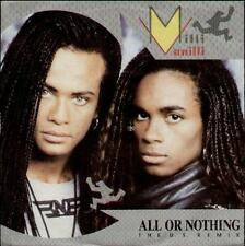 """MILLI VANILLI All Or Nothing-Us Remix  7"""" Ps (Hole In Sleeve)"""