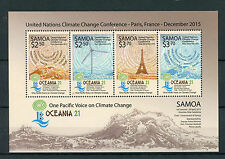Samoa 2015 estampillada sin montar o nunca montada un conferencia sobre el cambio climático Oceanía Pacífico 21 4v m/s Sellos