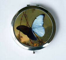 Blue Butterfly Compact MIRROR Pocket Mirror