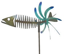 NEW HANDCRAFTED METAL YARD ART KINETIC GARDEN SCULPTURE  BONEFISH MADE IN USA