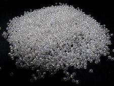 2500pcs 3mm Acrylic Round Beads - CLEAR TRANSPARENT Iridescent AB ( 30g )