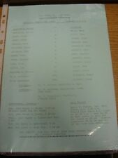 24/03/1988 Nottingham Forest Youth v Liverpool Youth [FA Youth Cup] (Single Shee