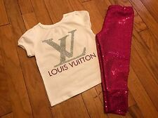 Toddler Girl Size 2T Fashion LV Outfit, Set, Clothes Lot