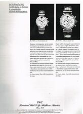 Publicité Advertising 1992 La Montre Da Vinci IWC