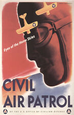 Vintage Civil Air Patrol Poster WW 2