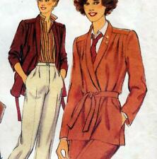 "Vintage 70s WRAP JACKET Skirt PANTS Sewing Pattern Bust 34"" Size 10 TROUSER SUIT"