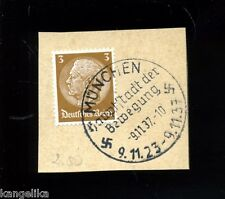 Briefmarke--Mit SONDERSTEMPEL--Hauptstadt der Bewegung--München--1937