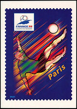 France 1998 coupe du monde de football préaffranchie paris maxiimum carte inutilisée #C 32753