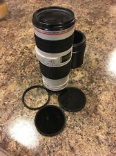Canon EF 70-200mm f/4 L IS USM Lens With 3 Hoya Filters