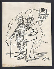 Francis Carruthers Gould Signed Cartoon 1903 'Entente Cordiale' - King Edward VI