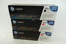 HP 125A Toner Cartridges MAGENTA BLACK CB540A CB543A MFR SEALED OEM NEW LOT of 3