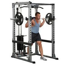 BodySolid GPR378 Power Rack W/ Lat Attachment GLA378 & 200 lb. Stack (HP200) NEW