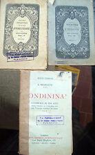 1905 LOTTO 3 VOLUMI TEATRO D'EDUCAZIONE MODENESE E LIBRO DI A. MICHELETTI