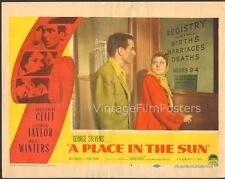 A PLACE IN THE SUN, original 1951 Lobby Card, Montgomery CLIFT & Shelley WINTERS