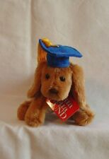 Gund Graduation Dog Puddles with Blue Cap