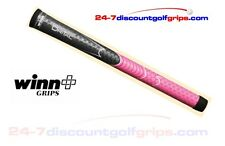 2015 Winn Dri-Tac ladies golf grips - dark grey and pink