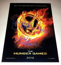 "THE HUNGER GAMES PP SIGNED 12""X8"" POSTER JOSH HUTCHERSON LIAM HEMSWORTH"