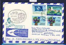 52028) LH FF Dresden - London 2.11.93, dkl'blaue Karte ab UNO Wien