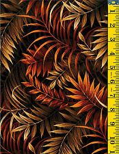 Wild Things Jungle Fern Leaves Cotton Quilt Fabric by P&B Textiles  Brown 34