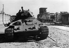 Wrecked Soviet Russian Tank Stalingrad Russia Oct 1942 World War 2, Reprint 6x4""