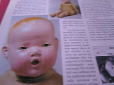 2pg Composition Ideal SNOOZIE Doll magazine Article / Ursula Mertz  b1