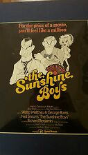 VINTAGE THE SUNSHINE BOYS MOVIE POSTER PROMOTION SMALLER WALTER MATTHAU BURNS