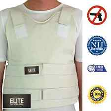 concealed carry bullet proof VEST KEVLAR Body Armor Level 3A WHITE XL X-LARGE