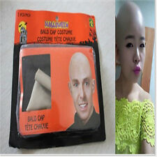 Funny Bald Head Wig Cap Unisex Party Dress  latex Skin Skinhead Fake film  Fancy