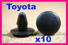 10 TOYOTA Interior boot bonnet roof lining trim sound insulation fasteners clips