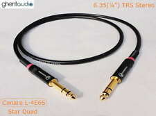 D05 (1m 3ft) --- 6.35mm TRS(m to m) Canare L-4E6S Star Quad HIFI Audio Cable