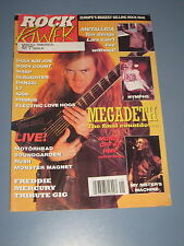 MAY-JUNE 1992 ROCK POWER MAGAZINE ISSUE #1 EUROPE MEGADETH METALLICA KISS