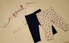 Baby girls 0-3 months Next birds tweet top and leggings outfit