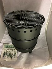 Safari Qwik Cook Grill Uses Newspaper for Quick Fuel Camping Hiking Tailgate