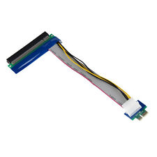 PCI-E Express 1x To 16x Riser Card Ribbon Extender Extension Cable Molex Power
