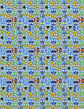 Timeless Treasures Fabric - Tossed Mini Owls - Blue - 100% Cotton owl