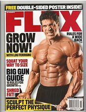 FLEX bodybuilding muscle magazine/Lou Ferrigno with 2 sided poster 11-15
