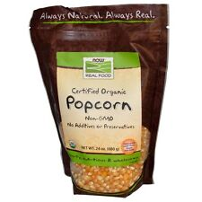 Real food, certified organic popcorn, 24 oz (680 g) - now foods